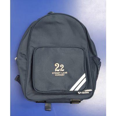 22 Street Lane Navy Backpack w/Logo