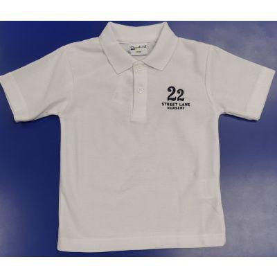 22 Street Lane White Polo w/Logo