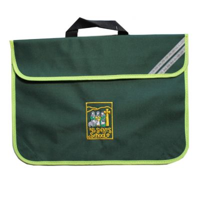 All Saint's Richmond Bottle Green Bookbag w/Logo