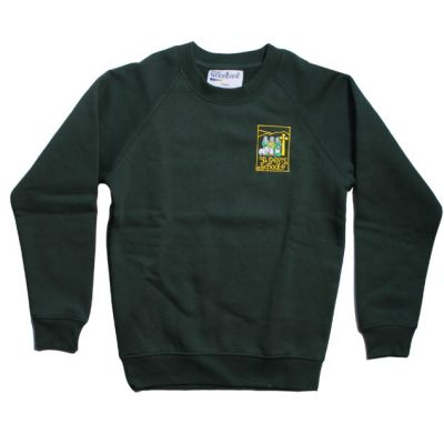 All Saint's Richmond Bottle Green Sweatshirt w/Logo