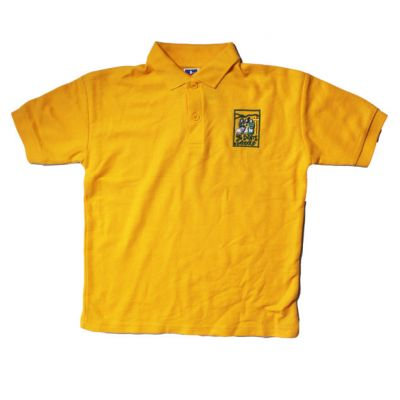 All Saint's Richmond Gold Polo Shirt w/Logo