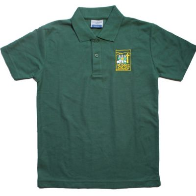 All Saint's Richmond Bottle Green Polo Shirt w/Logo