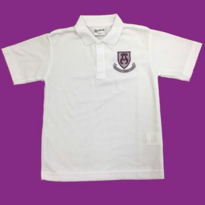Alwoodley White Polo Shirt w/Logo