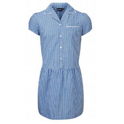 Ashley Blue/White Checked Summer Dress