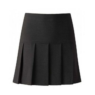 Blue Max Banner Girls Charcoal Charleston Skirt