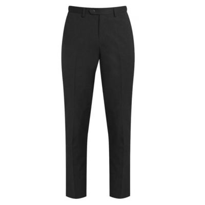 Boys Black Senior Flat Front Trousers – Slim Fit