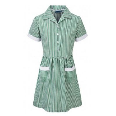 Richmond House Girls Green/White Summer Dress