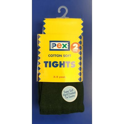 Girls Bottle Green Tights – Pack of 2