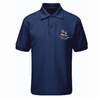 22 Street Lane Navy Polo Shirt W/Logo