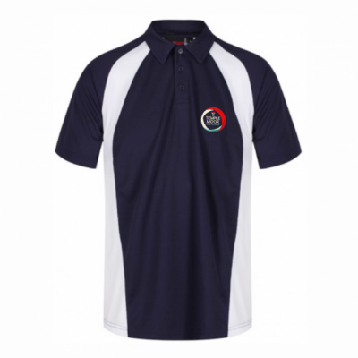 Temple Moor Nvy/Wht Akoa Boys Polo Shirt w/Logo