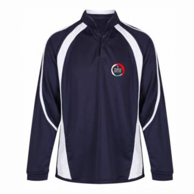 Temple Moor Nvy/Wht Akoa Rugby Shirt w/Logo