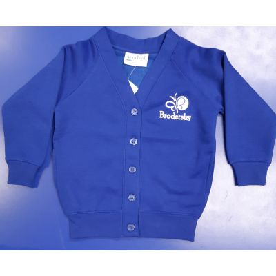 Brodetsky Royal Blue Girls Cardigan w/Logo