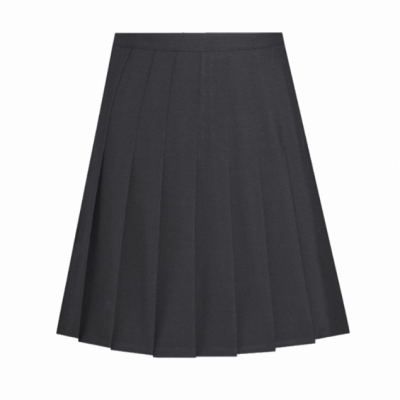 David Luke Black Stitch Down Knife Pleated Skirt