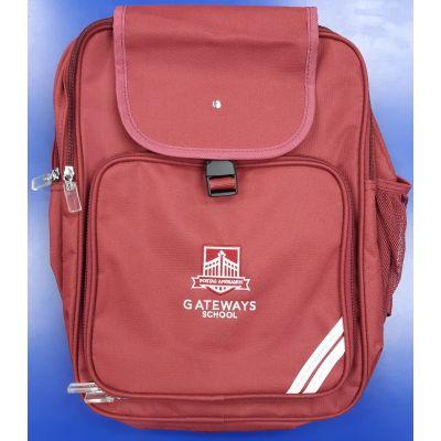 Gateways Maroon Junior Backpack w/Logo