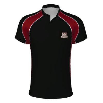 Gateways Boys 1/2 Sleeve Rugby Shirt w/Logo