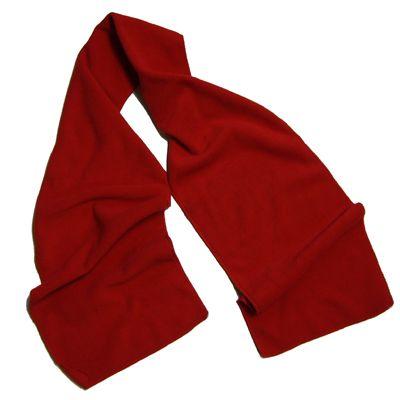 Red Fleece Scarf