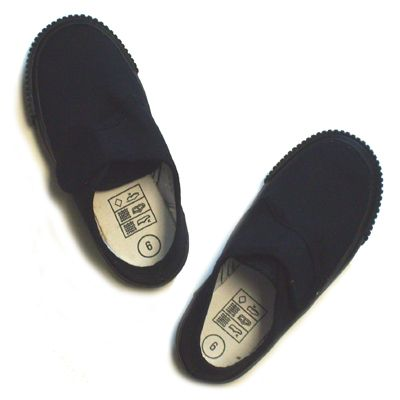 Black Velcro Fastening Gym Shoes