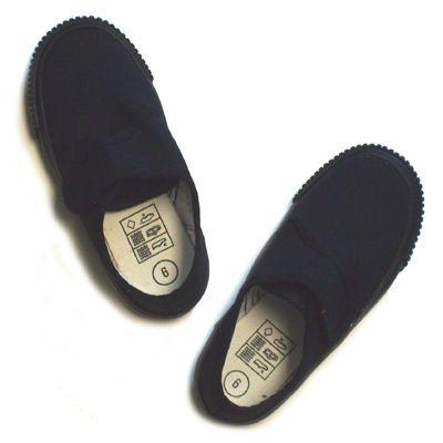 Black Velcro Fastening Gym Shoes