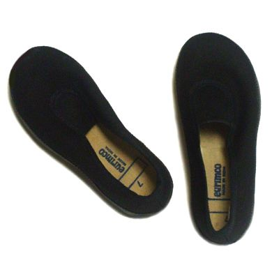 Black Slip-On Gym Shoes