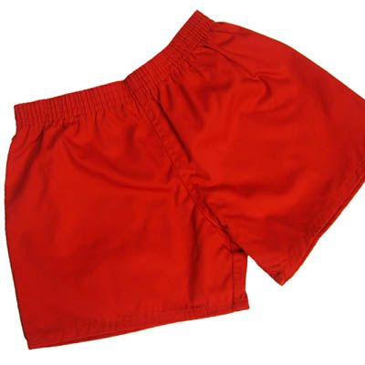 Classic Red Cotton Sports Short