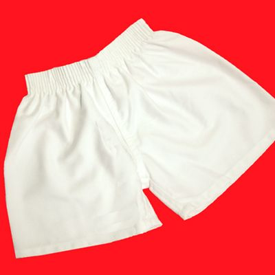 Classic White Cotton Sports Short