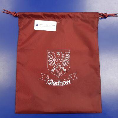 Gledhow Primary School Maroon Gym Bag w/Logo