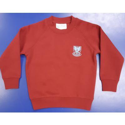 Gledhow Primary School Wine Sweatshirt w/Logo