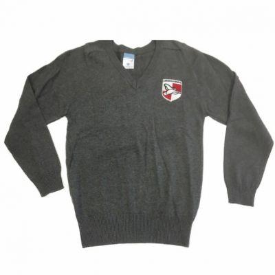 Lawnswood Grey V-Neck Pullover