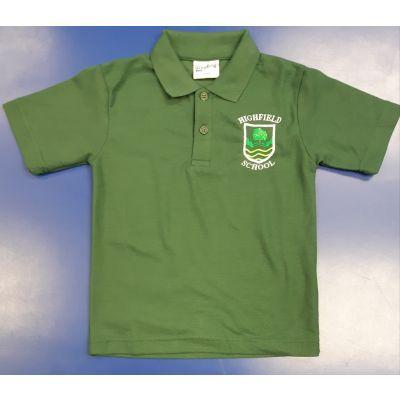 Highfield Bottle Green Polo Shirt w/Logo