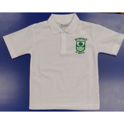 Highfield White Polo Shirt w/Logo