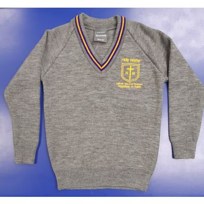 Holy Name V-Neck Pullover w/Logo