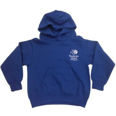 Brodetsky Royal Blue P.E Hooded Sweatshirt w/Logo