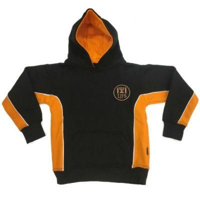 Leeds Jewish Free Blk/Amb Hooded Sweatshirt w/Logo