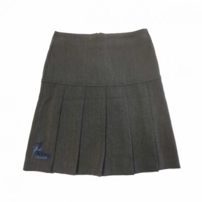 Abbey Grange Charleston Mid Grey Skirt w/Logo