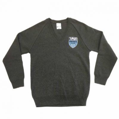 Abbey Grange Grey Pullover w/Logo