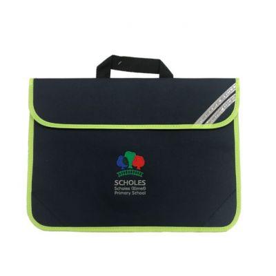 Scholes Primary Navy Hi-Vis Book Bag w/Logo