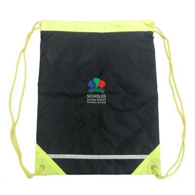 Scholes Primary Navy Hi-Vis Gym Bag w/Logo