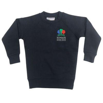 Scholes Primary Navy Crew Sweatshirt w/Logo