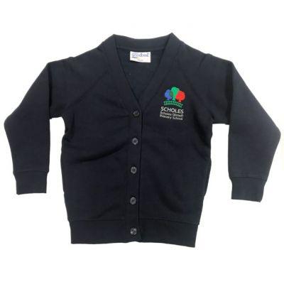 Scholes Primary Girls Navy Cardigan w/Logo