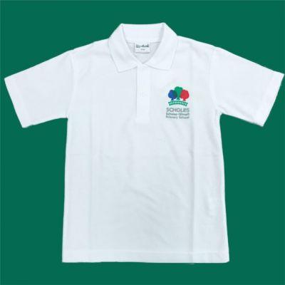 Scholes Primary White Polo Shirt w/Logo