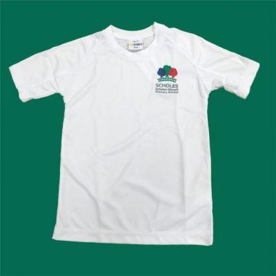 Scholes Primary White P.E T-Shirt w/Logo