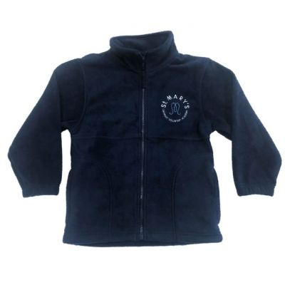 St Marys Horsforth Navy Fleece Jacket w/Logo