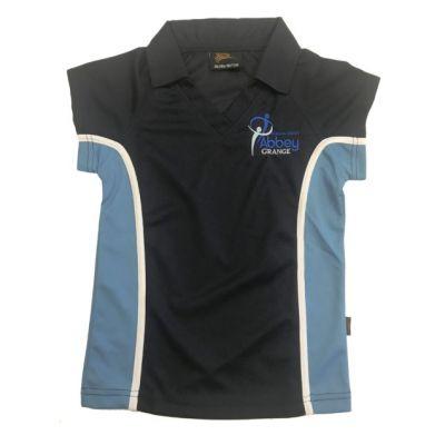 Abbey Grange Girls Nvy/Sky P.E Polo Shirt w/Logo