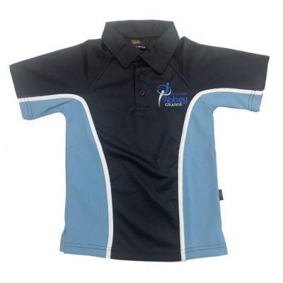 Abbey Grange Boys Nvy/Sky P.E Polo Shirt w/Logo