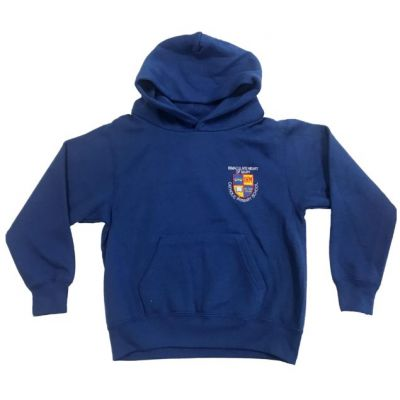 Immaculate Heart of Mary Royal Blue Hooded Sweatshirt w/Logo