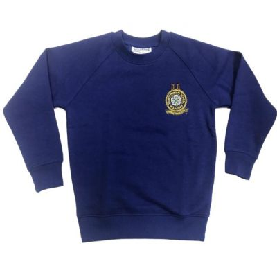 Talbot Primary School Dark Royal Blue Sweatshirt w/Logo