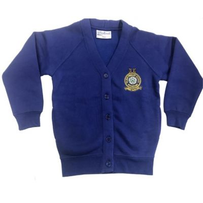 Talbot Primary School Dark Royal Blue Girls Cardigan w/Logo
