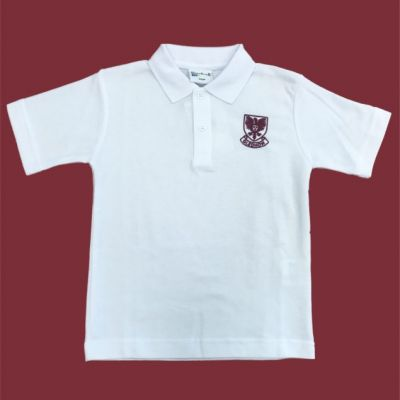 Gledhow Primary School White Polo Shirt w/Logo