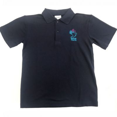 Bishop Young Navy P.E Polo w/Logo