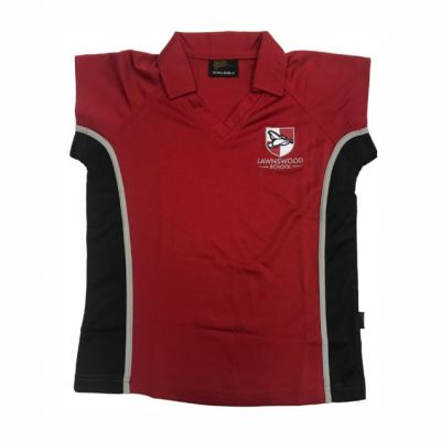 Lawnswood Girls Red P.E Polo Shirt